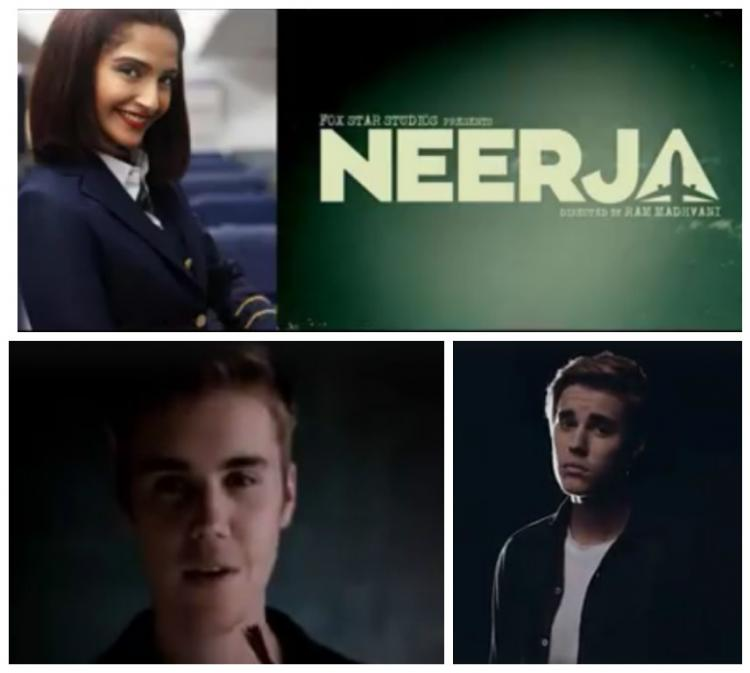Oh My! Justin Bieber promotes Sonam Kapoor's Neerja in the most amusing way