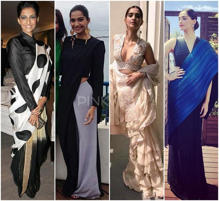 Style Talk : Sonam Kapoor and her love of sarees at Cannes