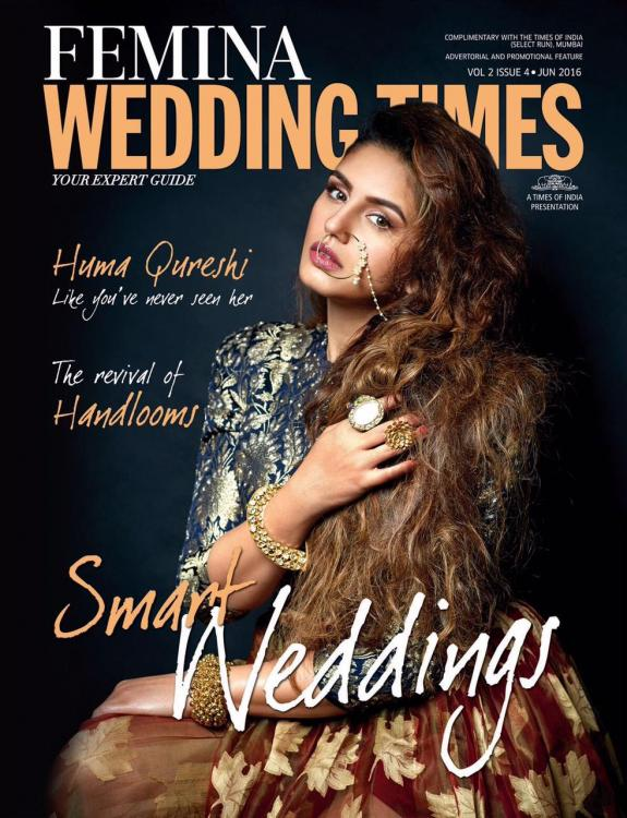 Huma stuns in a bridal avatar on a magazine cover