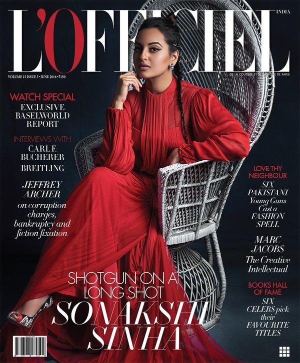 Love for Red! Sonakshi Pulls A Stunning Look For L'Officiel Latest Cover